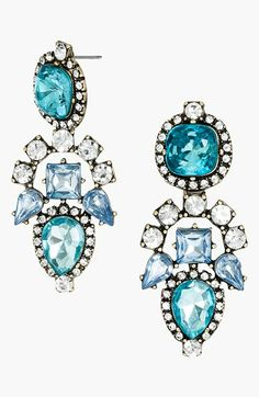So versatile and shiny!  BaubleBar 'Aztec' Crystal Drop Earrings available at #Nordstrom