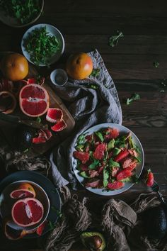 Grapefruit, Salmon, and Avocado Salad | Adventures in Cooking