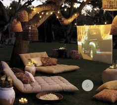 Backyard outdoor movie!!!!  Love it!!