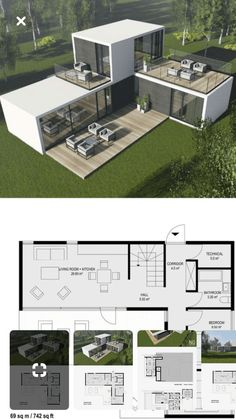 Ideas Shipping Container Homes Plans Layout Ideas Tiny House for Contein. - Ideas Shipping Container Homes Plans Layout Ideas Tiny House for Conteiner house in 45 Shipping Container Home Designs, Container House Design, Small House Design, Modern House Design, Container Pool, Shipping Containers, House Design Plans, Shipping Container Workshop, Small Modern House Plans