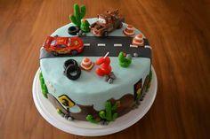 Cars verjaardagstaart marsepein