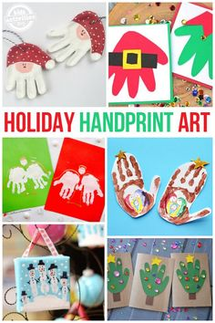 Need a homemade keepsake? Check out this fun list of Holiday Handprint Art- a perfect gift for grandparents!