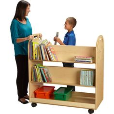 Make your classroom library portable with the Jonti Craft Book Truck
