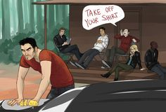 Teen Wolf: It's a show about a 20-something greaser and the teenagers that harass him.  Idea by Guzu.
