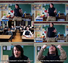 It would have been funny if he said Tenacious D -- School of Rock