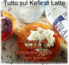 Fermenti vivi del Kefir, latte intero e muffin