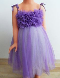 Flower Girl Tulle Dress. A line Tulle Tutu dress by AylinkaShop