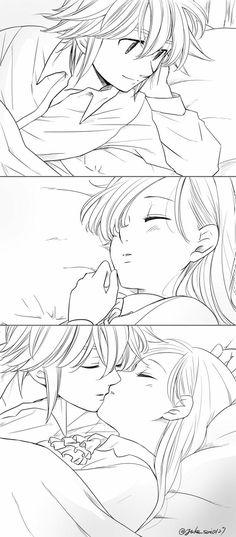 Elizabeth Seven Deadly Sins, Seven Deadly Sins Anime, 7 Deadly Sins, Fairy Tail Natsu And Lucy, Fairy Tail Manga, Anime Neko, Otaku Anime, Meliodas And Elizabeth, Elizabeth Liones