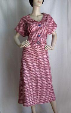 Depression Era Cotton Dress