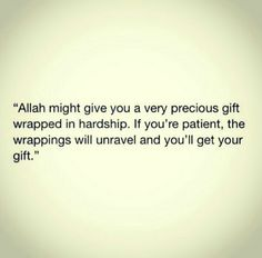 Good can emerge from hardship and might even be greater than the hardship itself.