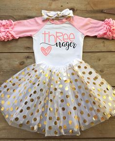 3rd Birthday Outfit for Girl  3rd Birthday Shirt by bowtiespearls