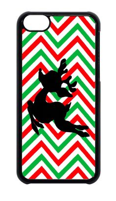 For Apple iPhone 4 4s or 5 5s  6 Merry Christmas Rudolph Chevron case #Apple
