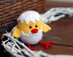 Easter chicken hatched from the egg Easter decoration by deniza