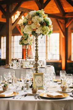 #elevated  #centerpiece #hydrangea  #lodge #Welchallyn #skaneateles
