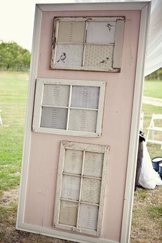 shabby seating plan on a lovely blush background...