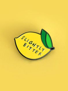 PRE-ORDER Slightly Bitter enamel pin by samweirforever on Etsy