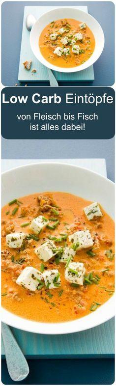 Tolle Rezepte für kohlenhydratarme Eintöpfe. Entdecke tolle Ideen für neue Lieblings-Low-Carb-Gerichte.