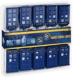 Doctor Who Tardis Christmas Lights: 10 Blue Box Lanterns Matt Smith Tennant 50th
