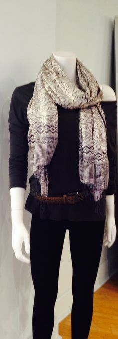 Color Island scarf  Sundry long T DUFFY WOOL LEGGINGS #encounter boutique
