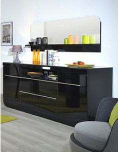 Black Buffets and Cabinets for a Retro Look Luxury Furniture, Furniture Design, Italian Buffet, Black Buffet, Full Length Mirror Wall, Dining Room Buffet, Buffet Cabinet, Retro Look, Yurts
