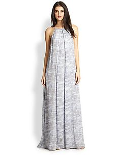 10 Crosby Derek Lam Silk Printed Chiffon Maxi Dress