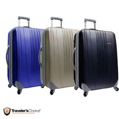 @Overstock - Travel in style with this 29-inch hardshell upright from Traveler's Choice. This expandable spinner suitcase features adjustable handles, smooth wheels and a scratch-resistant finish.http://www.overstock.com/Luggage-Bags/Travelers-Choice-Toronto-29-inch-Expandable-Hardside-Spinner-Upright/5162659/product.html?CID=214117 $87.99