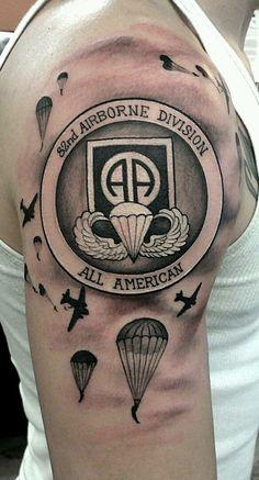 30 Airborne Tattoos For Men - Military Ink Design Ideas Skull Tattoo Design, Tribal Tattoo Designs, Tattoo Designs And Meanings, Geometric Tattoos, Geometric Shapes, Upper Arm Tattoos For Guys, Upper Arm Tattoos Designs, Army Tattoos, Military Tattoos