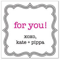 Love Minnie & Emma's gift tags/stationery