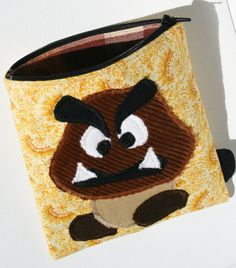 Goomba (Mario) Zipper Pouch Handmade in Norway. ___________________________ 10% Discount Coupon Code: PINTOFF1610X ___________________________