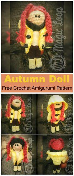 Puppe selber häkeln - kostenlose Anleitung für Häkelpuppe mit Haaren ...
