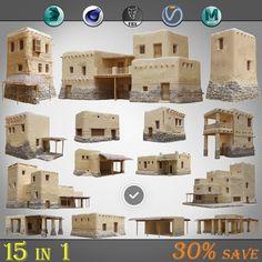 15 1 old arabic model - TurboSquid 1425249 Mecca City, Desert Biome, Cube World, Viking House, Minecraft Architecture, Islamic Architecture, Planet Coaster, Minecraft Projects, Minecraft Stuff