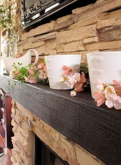 If you are here from Pinterest, thank you for stopping in! This is the product we used for our stone.http://www.eldoradostone.com/ Stacked Stone in Mountain Blend The mantel was a 4×4 piece of lumber purchased at Home Depot.  We stained and... Continue the story