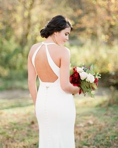 This Cozy Fall Wedding Took Place on the Riverbanks of Asheville, North Carolina Top Wedding Dresses, Wedding Dress Shopping, Wedding Gowns, Wedding Designs, Wedding Styles, Wedding Ideas, Wedding Bride, Fall Wedding, Mikaella Bridal