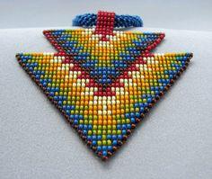 Graines de perles collier bijoux d'Art Double par HANWImedicineArt