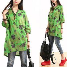 Summer Printed shirt - Tkdress  - 1