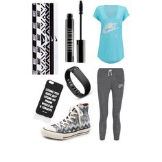 Comfy Walk by avacartwright on Polyvore featuring polyvore, fashion, style, NIKE, Converse, Fitbit, Jac Vanek and Lord & Berry