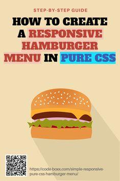 Programming Tutorial, Learn Programming, Computer Programming, Web Design Trends, Design Web, Hamburger Menu, Coding For Beginners, Graphic Design Resume, Learn To Code