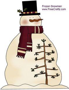 Frozen Snowman Patterns