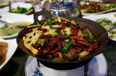 Griddle Cooked Spicy Pork Intestine - 干鍋肥腸 by Tohru にゃん, via Flickr