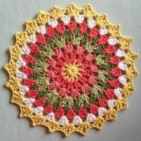 Crochet Mandala Wheel made by Joanne, East Yorkshire, UK, for yarndale.co.uk