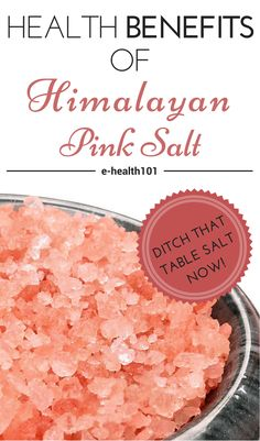 Health Benefits Of Himalayan Pink Salt - Himalayan salt is mined from deep inside the Himalayan Mountains. It has a much milder flavour than the table salt that you're probably used, and it also happens to contain all 84 trace minerals that your body requires.