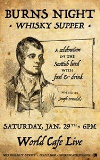 Celebrate Burns Night With A Whisky Supper At World Cafe Live ...