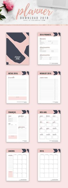 Planner 2018 para download