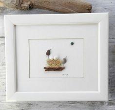 Pebble art birds nest nest pebbles egg bird pebble art