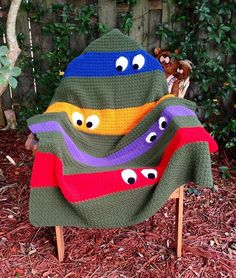 Ninja Turtle Crochet Blanket! Makes me laugh!