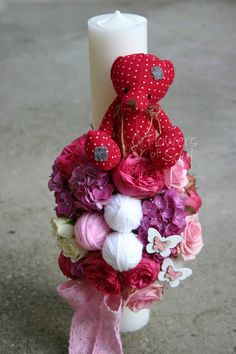 Flowers of Soul: Lumanari de botez Wedding Flowers, Easter, Candles, Party, Handmade, Crafts, Business, Box, Hand Made