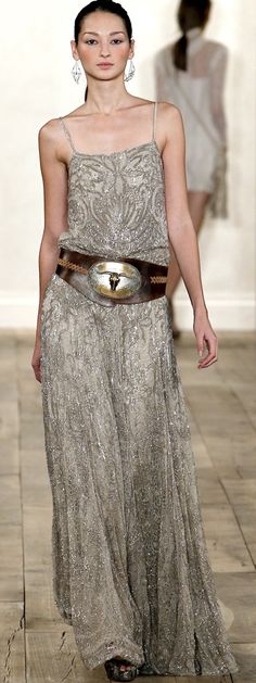 Love this look! I wouldn't have anywhere to wear something like this, but I still love it! Ralph Lauren, spring 2011