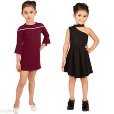 Frocks & Dresses Elegant Cotton Lycra Blend Kids Dresses Fabric: Cotton Blend Sleeve Length: Three-Quarter Sleeves Pattern: Solid Multipack: Pack Of 2 Sizes: 2-3 Years (Bust Size: 9.5 in Length Size: 21 in) Country of Origin: India Sizes Available: 2-3 Years, 3-4 Years, 4-5 Years, 5-6 Years, 6-7 Years, 7-8 Years   Catalog Rating: ★4.2 (436)  Catalog Name: Free Mask Agile Fancy Girls Frocks & Dresses CatalogID_1053415 C62-SC1141 Code: 836-6611186-
