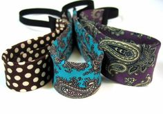 Upcycled and Recycled Men's Neckties into headbands. This is seriously cute. Great idea!