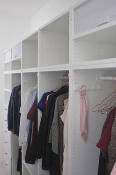 New and easy adaptable PLATSA modular system from Ikea Ikea Wardrobe Hack, Ikea Hack Bedroom, Ikea Closet, Closet Wall, Wardrobe Ideas, Scandinavian Style, Scandinavian Home Interiors, Modular Wardrobes, Fitted Wardrobes